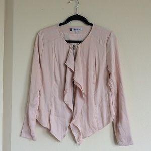 Jennifer Lopez Blush Pink Satin Jacket Size 8